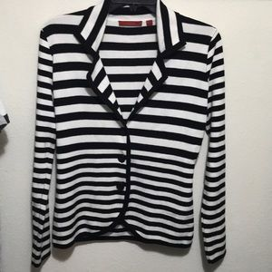 RED brand striped buttoned cardigan sweater
